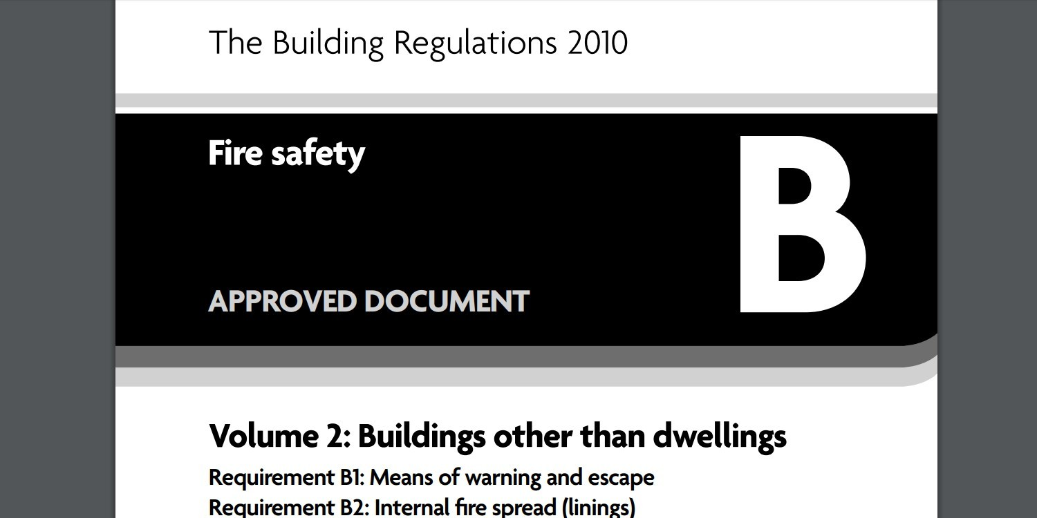 Building Regulations Approved Document B (Fire Safety) Volume 2: Buildings other than dwellings, 2019 Edition